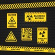 Hazard Warning Tape and Labels — Stock Vector