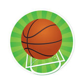 Basketball with Court Markings — Stock Vector