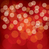 Red Abstract Bokeh Background — Stockvector