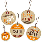 Autumn Retail Labels — Stock Vector