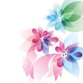 Abstrakt design med blommor — Stockvektor