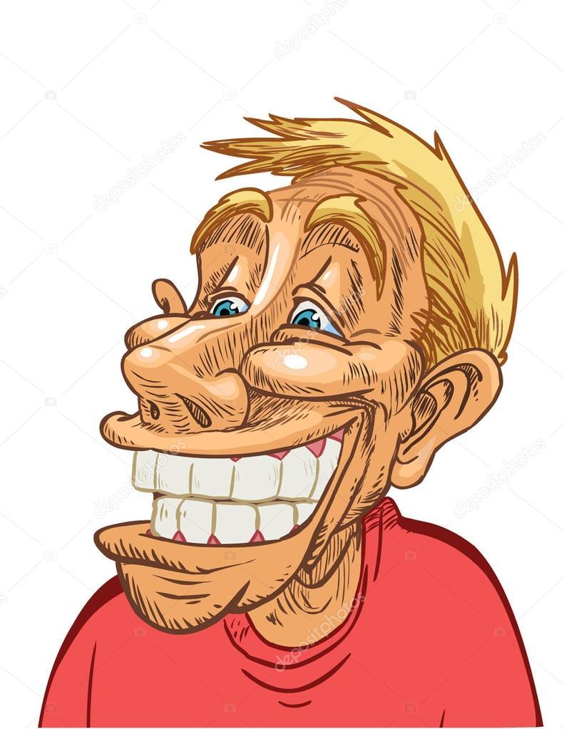 with a big smile   Vector Big Cartoon Smile