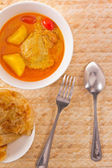 Yellow curry chicken — Stock Photo
