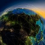 rutas aéreas principales en asia y el lejano Oriente — Foto de Stock