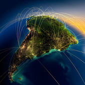 Main air routes in South America — Stock fotografie