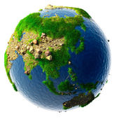 Detailed concept nature of the Earth in miniature — Stock Photo