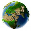 Stock Photo: Detailed concept nature of the Earth in miniature