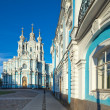 Smolny Cathedral. St. Petersburg, Russia - Stock Photo