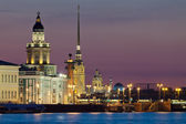 The iconic view of St. Petersburg White Nights — Foto Stock