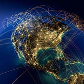 Huvudsakliga flyglinjer i nordamerika — Stockfoto