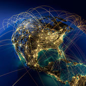 Rotas de ar principal na américa do norte — Foto Stock