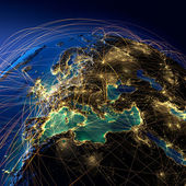 Rutas aéreas principales en europa — Foto de Stock