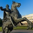 Monument Bronze Horsemin St. Petersburg — Stock Photo #20508795