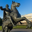 Monument The Bronze Horseman in St. Petersburg — Stock Photo
