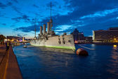 Cruiser Aurora in St. Petersburg, Russia — Stock Photo