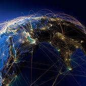 Huvudsakliga flyglinjer i mellanöstern och indien — Stockfoto