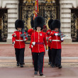 A Royal Guard at Buckingham Palace - Stock Photo