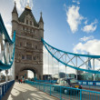 The famous Tower Bridge in London, UK - Stock Photo