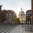 View of the St Paul's Cathedral, London, UK - Stock Photo