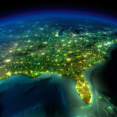 Night Earth. A piece of North America - South Eastern United Sta — Photo