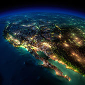 Night Earth. A piece of North America - Mexico and the western U — Stock Photo