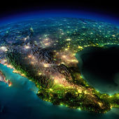 Night Earth. A piece of North America - Mexico — Stock Photo