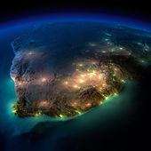 Night Earth. South Africa — Stock Photo