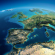 Detailed Earth. Spain and the Mediterranean Sea — Stock Photo