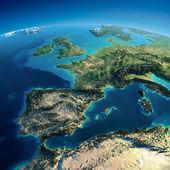 Detallado de la tierra. españa y el mar mediterráneo — Foto de Stock