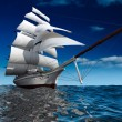 Sailing ship at sea — Stock Photo #4159189