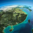 Stock Photo: Detailed Earth. Eastern Chinand Taiwan