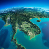 Detailed Earth. Indochina peninsula — Stock Photo