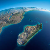 Detailed Earth. Africa and Madagascar — Stock Photo