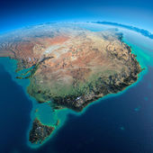 Detailed Earth. Australia and Tasmania — Stock Photo