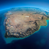 Detailed Earth. South Africa — Stock Photo