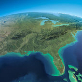 Detailed Earth. Gulf of Mexico and Florida — Stock Photo