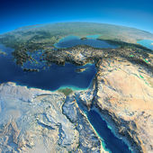 Detailed Earth. Africa and Middle East — Stock Photo