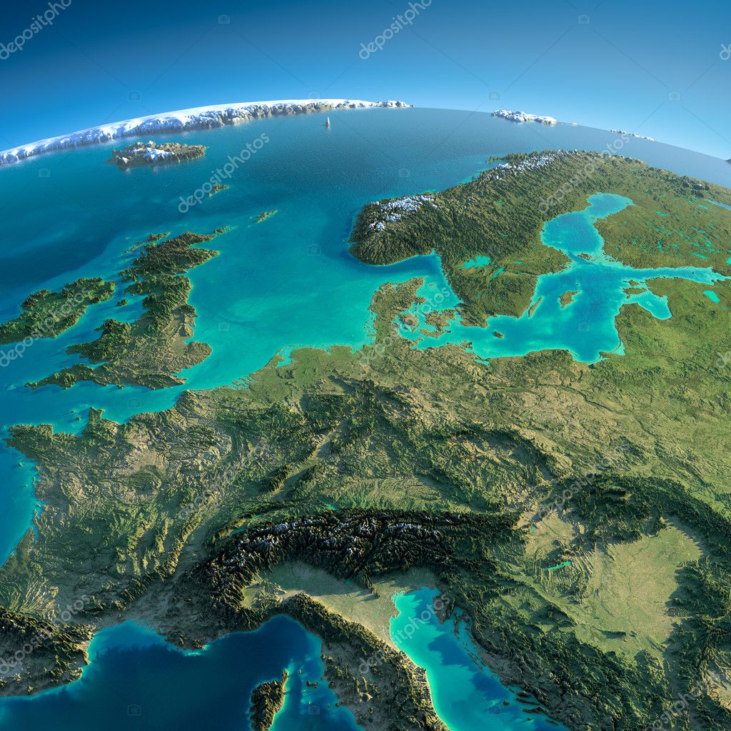 Detailed Earth. Central Europe — Stock Photo © Antartis ...