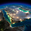 Stock Photo: Night Earth. Saudi Arabia