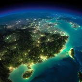 Night Earth. Eastern China and Taiwan — Stock Photo