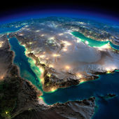 Night Earth. Saudi Arabia — Stock Photo