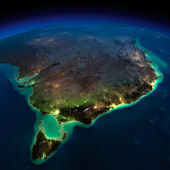 Night Earth. Part of Australia. Tasmania — Stock Photo