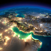 Night Earth. Persian Gulf — Stock Photo