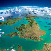 Fragments of the planet Earth. United Kingdom and Ireland — Stock Photo