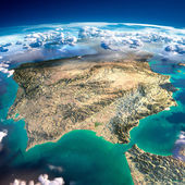Fragments of the planet Earth. Spain and Portugal — Stock Photo