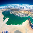 Fragments of the planet Earth. Persian Gulf — Stock Photo