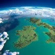 Fragments of the planet Earth. Ireland and UK — Stock Photo #43434791