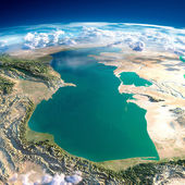 Fragments of the planet Earth. Caspian Sea — Stock Photo