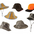 Set of caps and hats — Stock Photo #18129319