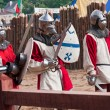 Three medieval knights — Stockfoto